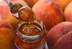 Pfirsich-Marmelade Lizenzfreies Stockfoto