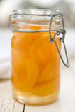 Pfirsich-Maurer-Glas Stockfotos