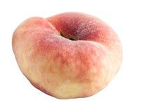 Pfirsich mit einer ungewöhnlichen Form. Stockbilder