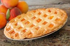 Pfirsich-Torte Stockbilder