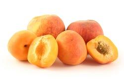 Pfirsich und Aprikose Lizenzfreie Stockfotos