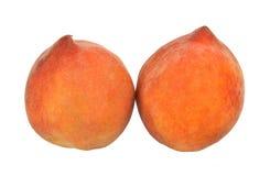 Pfirsiche auf Weiß Stockbilder