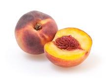 Pfirsiche getrennt auf Weiß Lizenzfreie Stockfotografie