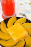 Pfirsichkuchen stockbild