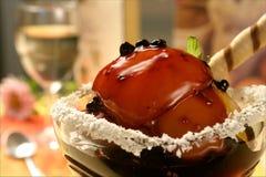Pfirsichnachtisch Stockbild
