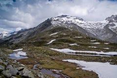 Pfitscher Joch, alpi di Zillertaler, Austria Fotografie Stock Libere da Diritti