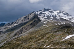 Pfitscher Joch, alpi di Zillertaler, Austria Immagini Stock