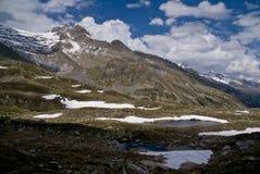 Pfitscher Joch,  Zillertaler Alps, Austria Stock Photography