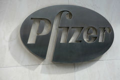 Pfizer logo Fotografia Stock