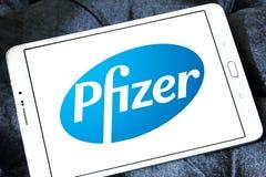 Pfizer-Logo stockbilder