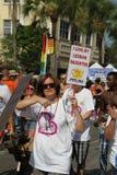 PFLAG au 10ème défilé annuel de fierté de rue Peter Images stock