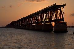 Pflager Eisenbahn-Brücke, Bahia Honda, Florida Lizenzfreies Stockbild
