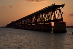 Pflager Railroad Bridge, Bahia Honda, Florida Royalty Free Stock Image