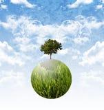 Pflanzen Sie den Baum für die Endglobale Erwärmung, stützbar stockbilder
