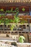Pflanzen von Trauben im Troyan-Kloster, Bulgarien Stockfotos