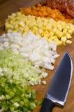 Pflanzensuppenbestandteile stockfoto