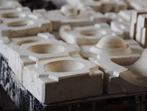 Pflaster mould for ceramics production Stock Photo