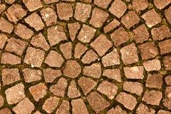 Pflasterstein ausgebreitete Kreise Hintergrund Lizenzfreies Stockfoto