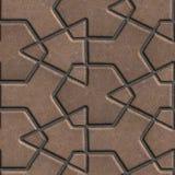Pflastersteine Browns errichteten von gekreuzten Stücken a Lizenzfreie Stockfotografie