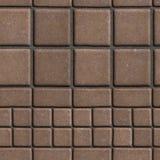 Pflastersteine Browns gezeichnet mit Quadraten von unterschiedlichem Lizenzfreies Stockbild