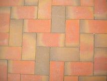 Pflastersteine der orange Farbe, Hintergrund stockbild