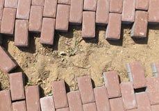 Pflasterung des Fußwegs Stockbilder
