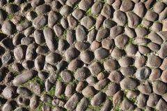 Pflasterung von den Betondeckefliesen kopiert auf Straße Stockbilder