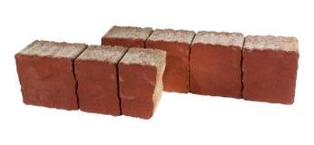 Pflasterziegel, lokalisiert Betonblock für die Pflasterung Lizenzfreie Stockfotos