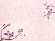 Pflaumeblütenhintergrund stock abbildung