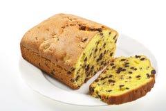 Pflaumenkuchen mit Schokolade Lizenzfreie Stockfotos