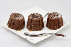 Pflaumenmarmeladen-Minikuchen mit Ahornsirup lizenzfreie stockfotografie