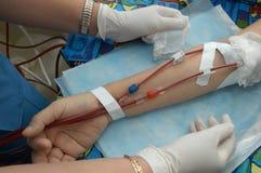 Pflegehämodialyse. Stockbild