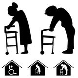 Pflegeheim-Ikonen Stockfotos