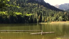 The Pflegersee in Garmisch- Partenkirchen stock video footage