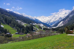 Pflersch valley in european Alps Royalty Free Stock Photography