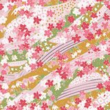 Beautiful seamless pattern in washi paper style royalty free stock photos