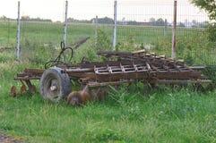 Pflug verlassen auf einem Feld Lizenzfreies Stockbild