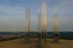 PFORZHEIM, ΓΕΡΜΑΝΙΑ - 29 Απριλίου 2015: Μνημείο του βομβαρδισμού της πόλης στο Hill ερειπίων Wallberg Στοκ Φωτογραφία