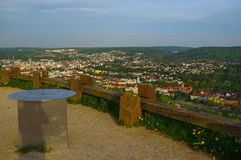 PFORZHEIM, GERMANY - April 29. 2015: cityview from Memorial of Bombing City on the Wallberg Rubble Hill. Stock Photography