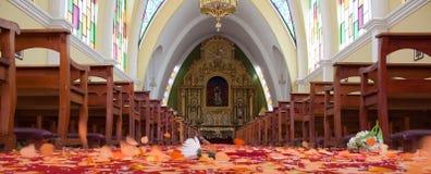 Pfosten-Hochzeits-Szene Stockfoto