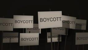 Pfosten-Zeichen-Protest-Reihe - Boykott-Version stock video footage