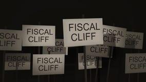 Pfosten-Zeichen-Protest-Reihe - steuerlicher Cliff Version stock footage