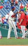 Pfostenspielfeier - Philadelphia Phillies Stockbilder