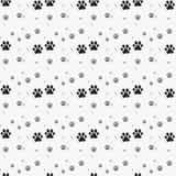 Pfotenabdruck nahtlos Spuren von Cat Textile Pattern Nahtloses Muster des Katzenabdruckes Vektor nahtlos lizenzfreie abbildung