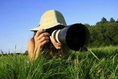 Pfotographer Fotografía de archivo libre de regalías