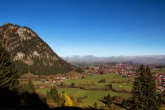 Pfronten in Allgäu. View from the mountains onto the autumn landscape in Pfronten in Allgäu, Bavaria, Germany Royalty Free Stock Images