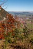 Pfronten in Allgäu. View from the mountains onto the autumn landscape in Pfronten in Allgäu, Bavaria, Germany Royalty Free Stock Photography