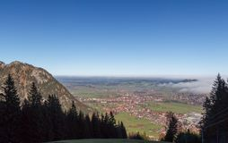 Pfronten in Allgäu. View from the mountains onto the autumn landscape in Pfronten in Allgäu, Bavaria, Germany Royalty Free Stock Photo