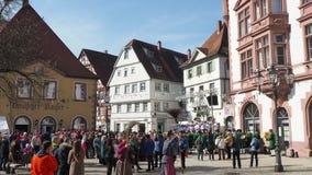 Pfullendorf, Γερμανία Οι εορτασμοί καρναβαλιού στο ιστορικό κέντρο πόλεων απόθεμα βίντεο