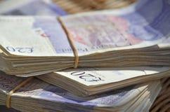 20 Pfund-Anmerkungen Lizenzfreies Stockbild